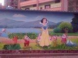 云南昆明幼儿园校园文化墙体彩绘装饰