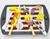 儿童益智玩具木制仿真玩具烧烤切切看