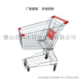超市购物车 商场购物车 KTV手推车 90升大容量镀锌购物车