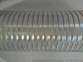 150聚氨酯集尘弹性镀铜钢丝伸缩软管