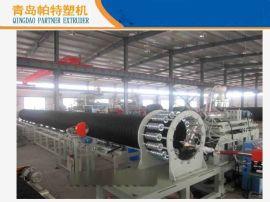 PE塑钢缠绕管生产线 钢带缠绕管设备