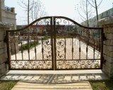 廠家定做設計自動平開鐵藝門   庭院大門供應