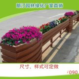 厂家定制 市政道路隔离景观绿化PVC微发泡马槽组合户外园艺花箱