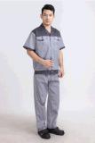 車間員工工衣定做工作服短袖工廠工裝套裝