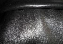 苏里皮革供应批发 黑色头层摔纹牛皮 荔枝纹皮料批发 巴西进口真皮