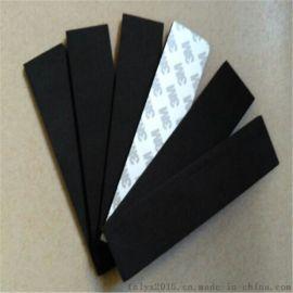 EVA黑色海棉防滑膠貼 強力泡沫膠墊 黑色單面泡棉膠 防震密封