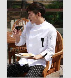 厂家定做秋冬长袖厨师服 酒店服装厨饭店服务员工作服定做