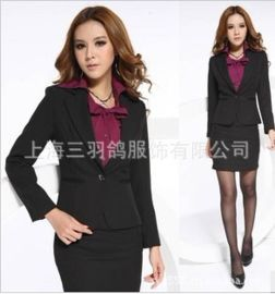 厂家直销 14职业装韩版OL 女装短袖工作服套装时尚正装修身套裙