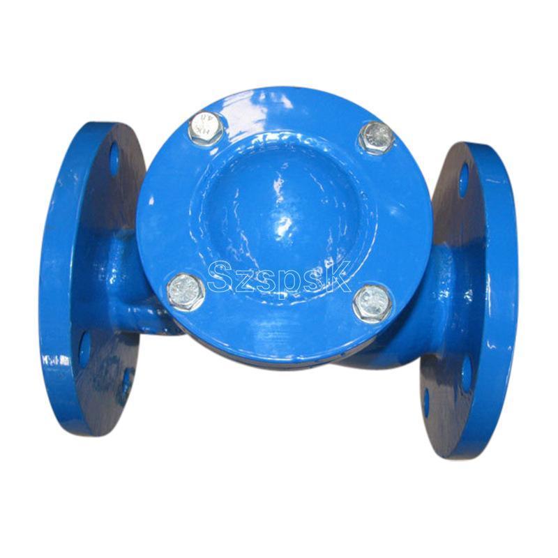 球墨铸铁HQ41X滚球式球形橡胶止回阀DN80 100 125 150 200