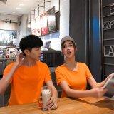 班服男式純色T恤棉文化廣告衫定製 空白圓領短袖工作服印logo批發