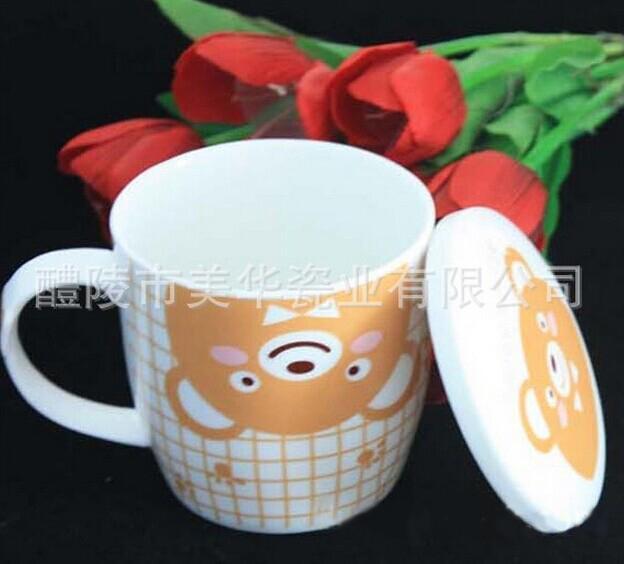 【带盖咖啡杯】小清新梦想杯 带盖陶瓷杯 大号杯 奶水杯工厂订做