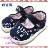 康乐源儿童手工布鞋,2015春款古典蜡染小花童布鞋