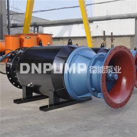 斜拉式轴流泵 半入水式潜水轴流泵