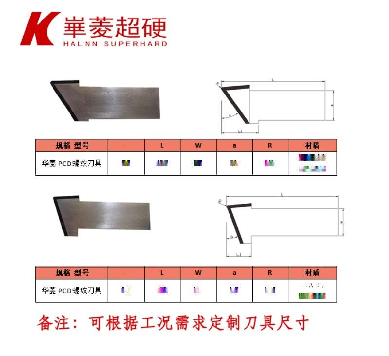 华菱超硬CDW302螺纹车刀—石墨电极螺纹加工专用车削**