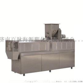 多功能双螺杆大米膨化机 食品生产加工设备