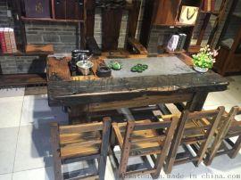 长春老船木家具那家好?|老船木茶桌台批发价格|老船木沙发多少钱?