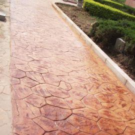 供应峨眉山市亚威Y26水泥压花|压模|混凝土压花地坪材料|透水地坪厂价直销