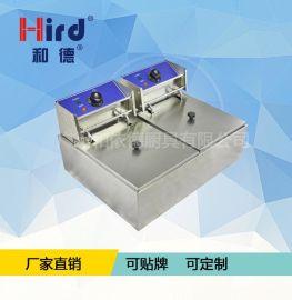 和德WF-102G商用双缸电炸炉加厚型炸薯条机器西厨小吃设备
