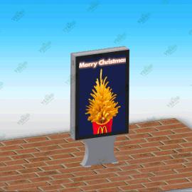 佛山厂家批发定制立式滚动灯箱 户外广告灯箱 换画灯箱广告牌