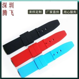 18mm硅胶套装表带平面带原宿风可印花环保表带适配**腕表手表带