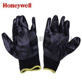霍尼韋爾Honeywell 經濟款耐磨丁腈塗層勞保手套 黑色 WE110CN-09