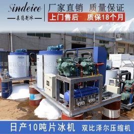 森德SDWF-10TR4制冰机 日产10吨大型风冷片冰机  进口配置出口制冰设备