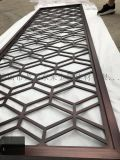 西安8MM不锈钢板激光红古铜屏风镂空隔断