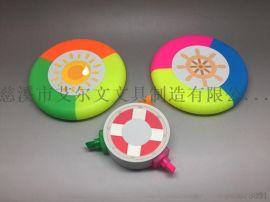 三色 圆形  色彩鲜艳 荧光笔 SM-1801