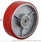 4寸重型6203双轴铁芯进口聚氨酯单轮