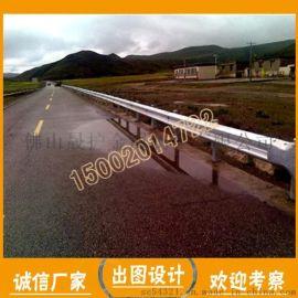 工厂供应三波波形护栏 Q235镀锌 高速公路防护墩