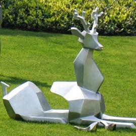 杜克实业不锈钢动物雕塑梅花鹿雕塑定制