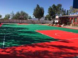重慶籃球場懸浮地板廠家人造草坪廠家