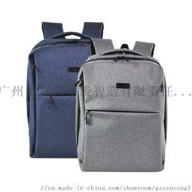 广州森荣箱包手袋厂家定做牛津布休闲双肩包