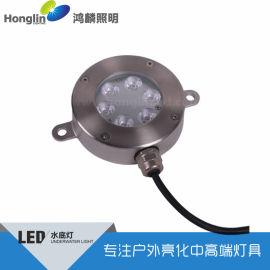 6W梅花面水底灯-大功率LED水底灯