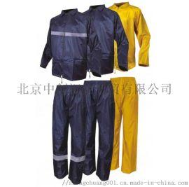 代尔塔分体涤纶雨衣套装带反光条407004