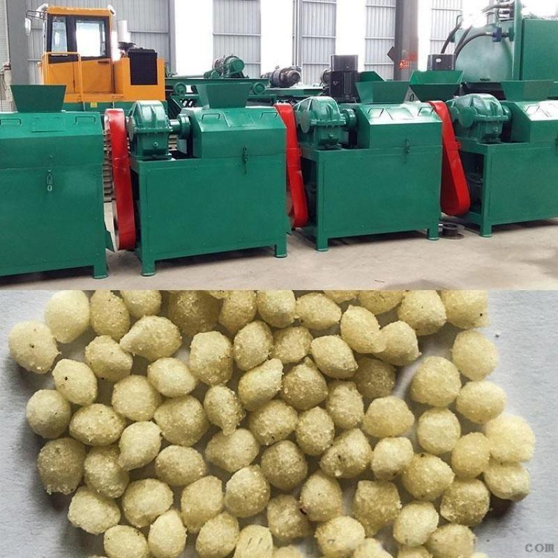 炭黑对辊造粒机 造粒机生产线与磨具 硫酸镁钾肥对辊挤压造粒机