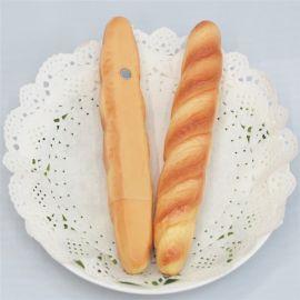 创意文具 ,长条面包造型圆珠笔, 带磁铁冰箱贴