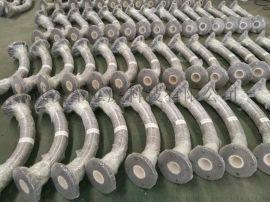 整体成型陶瓷内衬弯头,一体成型耐磨陶瓷管道