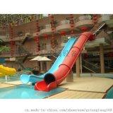 大型水上乐园设备 玻璃钢滑道  雪橇炮筒滑梯