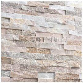 廠家直銷黃色冰裂紋 黃木紋板巖碎拼 不規則碎拼石材