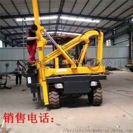新款波形护栏打桩机 道路钻孔机液压装载式打拔一体机