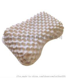 温州源头厂家泰国天然乳胶枕颈椎按摩枕花生枕