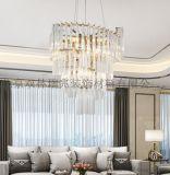輕奢別墅酒店餐廳專用條形水晶燈