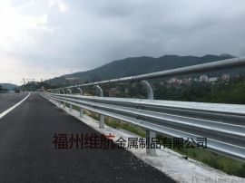 福建乡村公路护栏板 安全防撞设施 镀锌双波护栏
