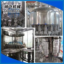 瓶装水三合一液体灌装机 小型矿泉水全自动灌装设备
