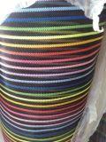 供应进口尼龙条纹沙网,彩色条纹纱网编织网,涤纶七彩沙网