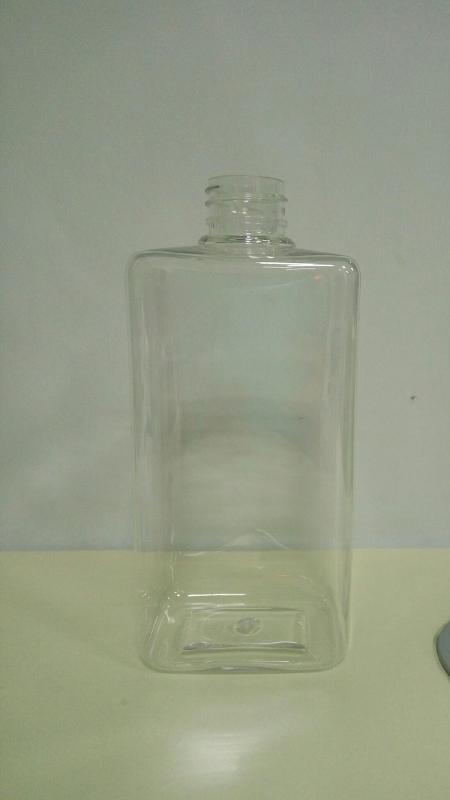 500ml四方塑料瓶pet塑料瓶pet方瓶pvc包装盒透明塑料盒洗发水瓶子