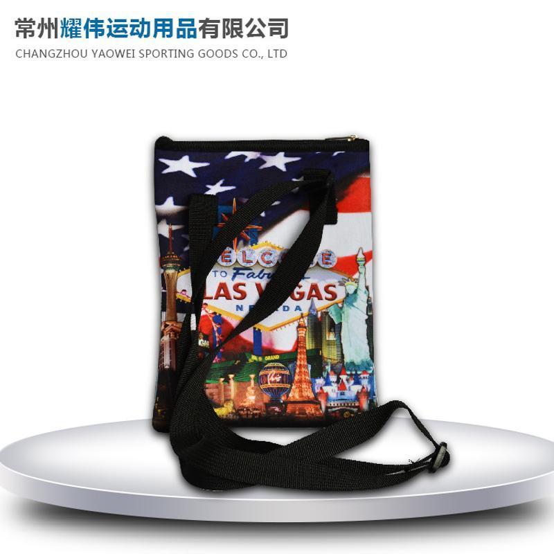 潜水料印花零钱包 便携包 户外休闲便携包 潜水料户外休闲包