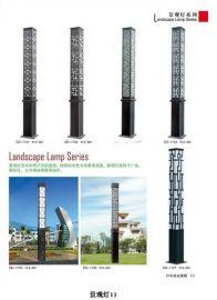 小区方形广场园林庭院灯中式景观灯户外2.5米3米3.5米4米别墅铝灯