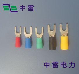 叉型UT1.5-5 Y型冷压接线端头 接线端子 中雷UT冷压端子
